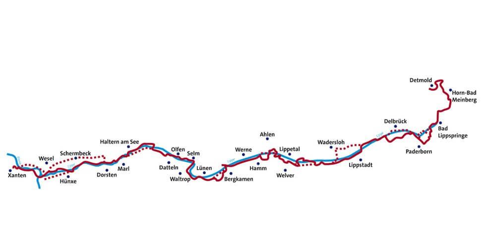 lippe fluss karte Lippe Fluss Karte | Deutschland Karte lippe fluss karte